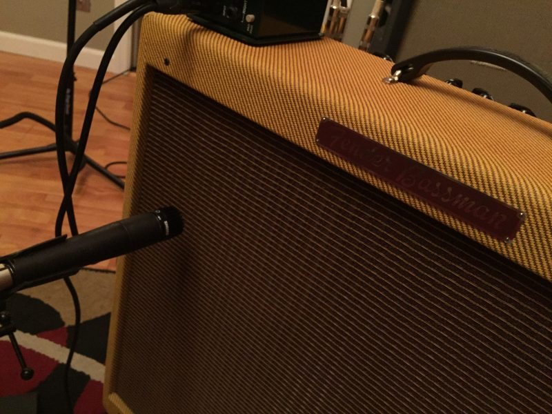 Perry tracked lead guitars on this sweet Fender Bassman.