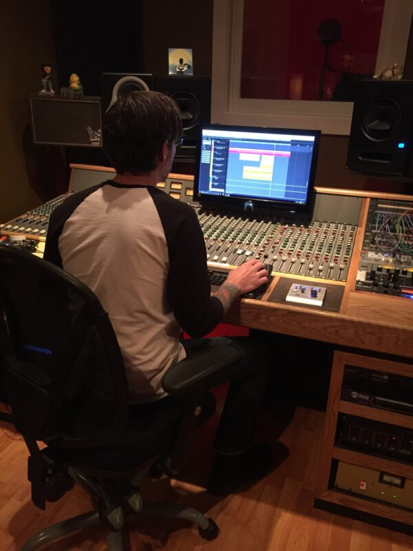 Recording Engineer Jason Groves, the straw the stirs the drink.