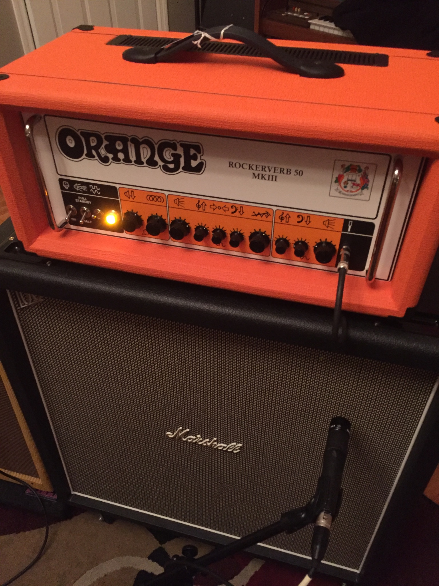 We were the first act to track guitars with this Orange Rockerverb head.