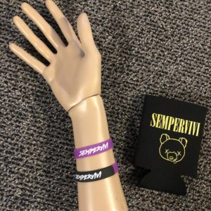 Sempervivi Rubber Bracelet and Can Koozie