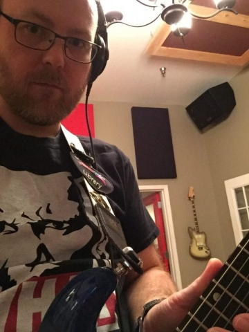 Derek, about to track guitars with Old Blue.