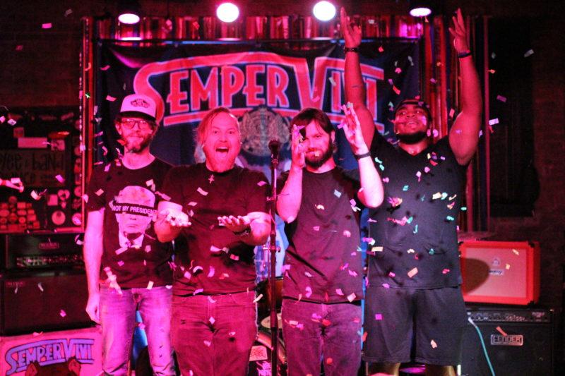 Sempervivi celebrating at our CD release show