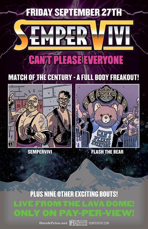 Sempervivi Wrestlemania Parody Concert Poster