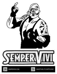 Sempervivi wrestler coloring sheet