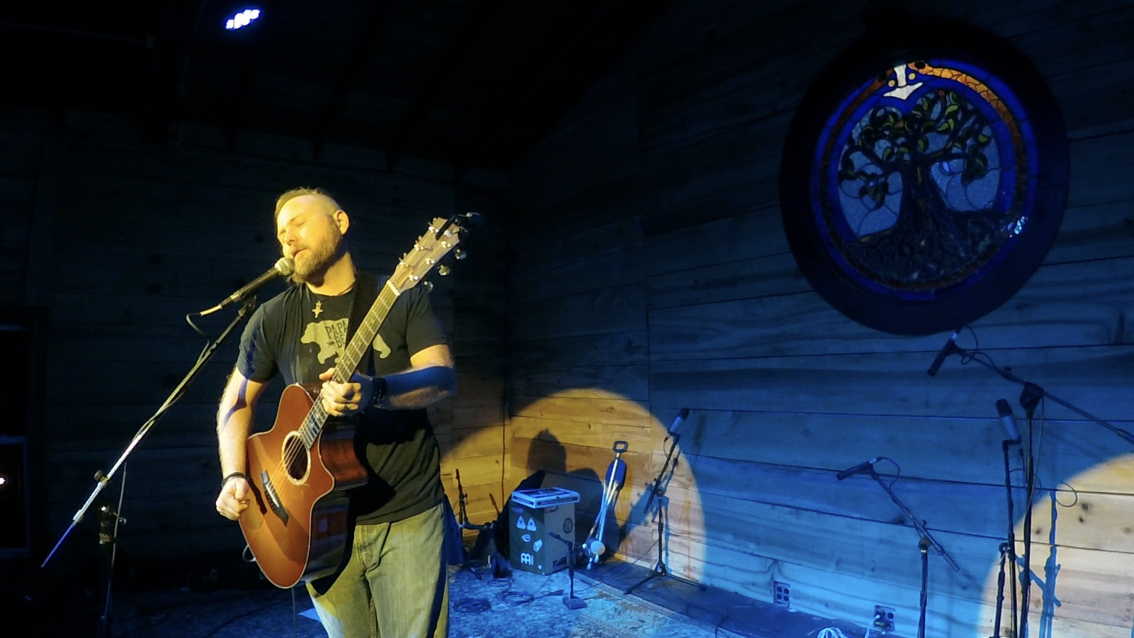 Playing at The Burl, Summer 2017